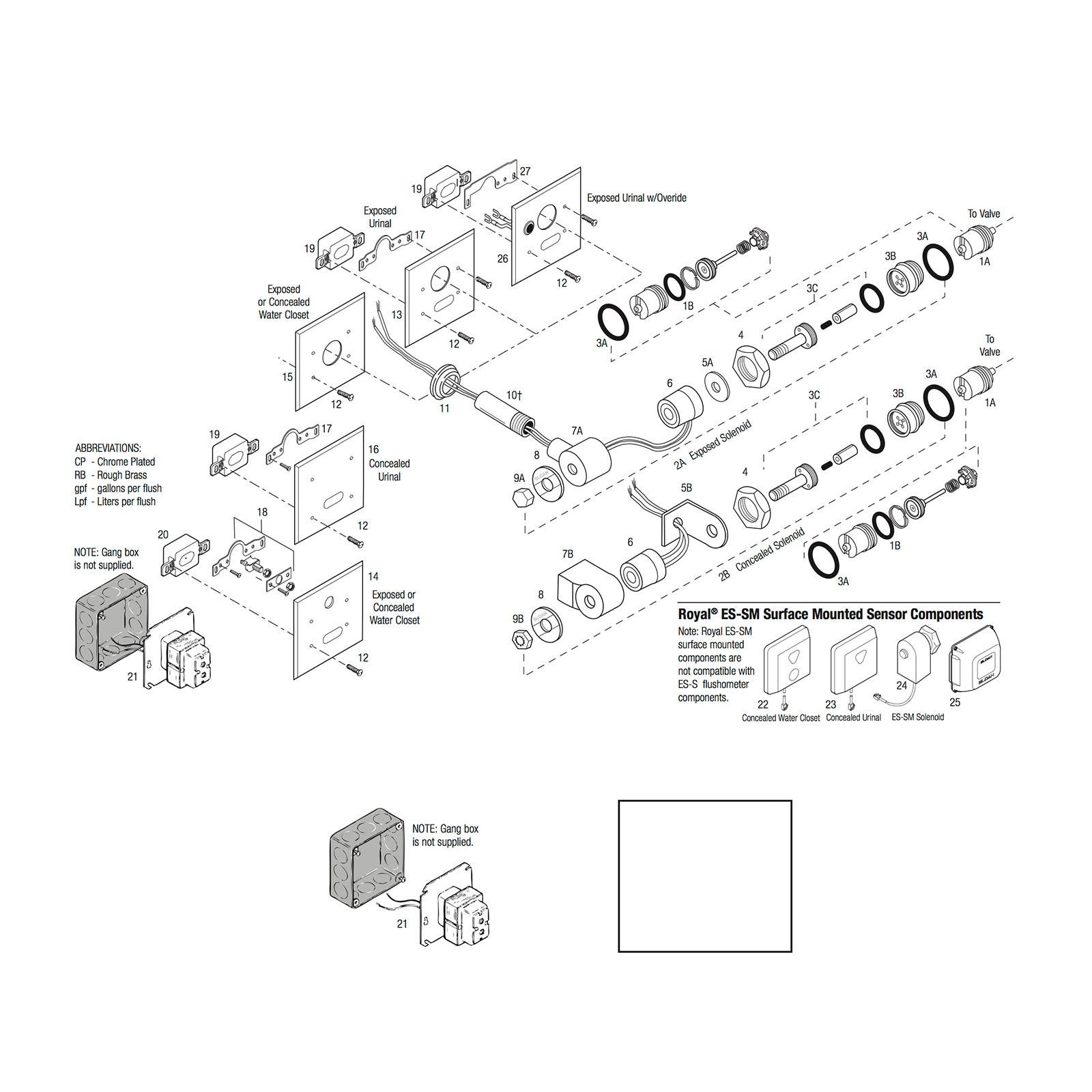 Sloan Sensor Solenoids 120 Volt Solenoid Switch Wiring Diagram Actuator Cartridge Assembly Repair Kit