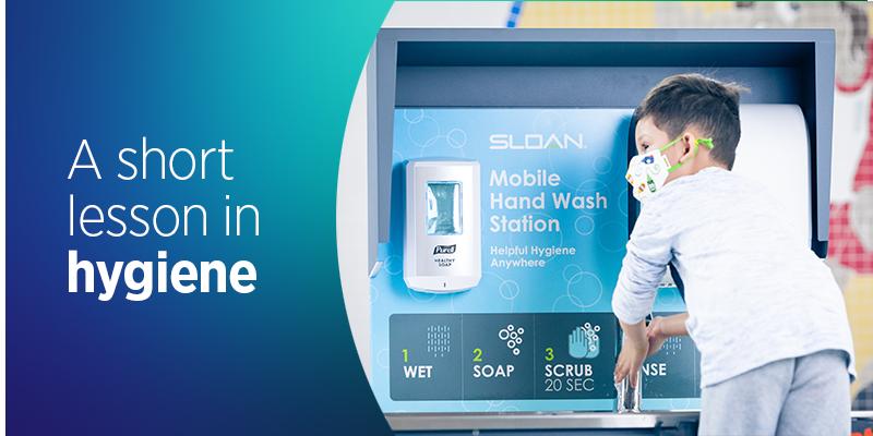 供儿童洗手用的移动式洗手台