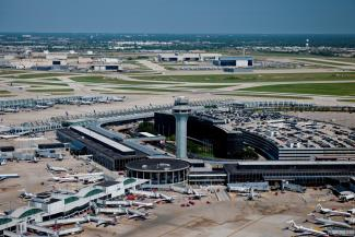 Sloan products at O'Hare Airport