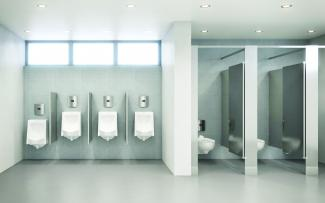 Standard urinals and wall hung water closets with CX Flushometers