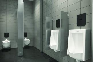 commercial restroom concealed flushometers wall plate latest technology