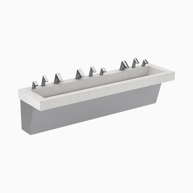 Bathroom Wall Aer: AER-DEC® Integrated Commercial Sink System