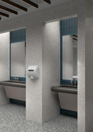 公共卫生间感应式干手机展示图