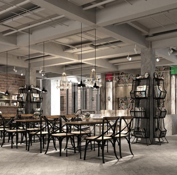 现代餐厅的室内照片